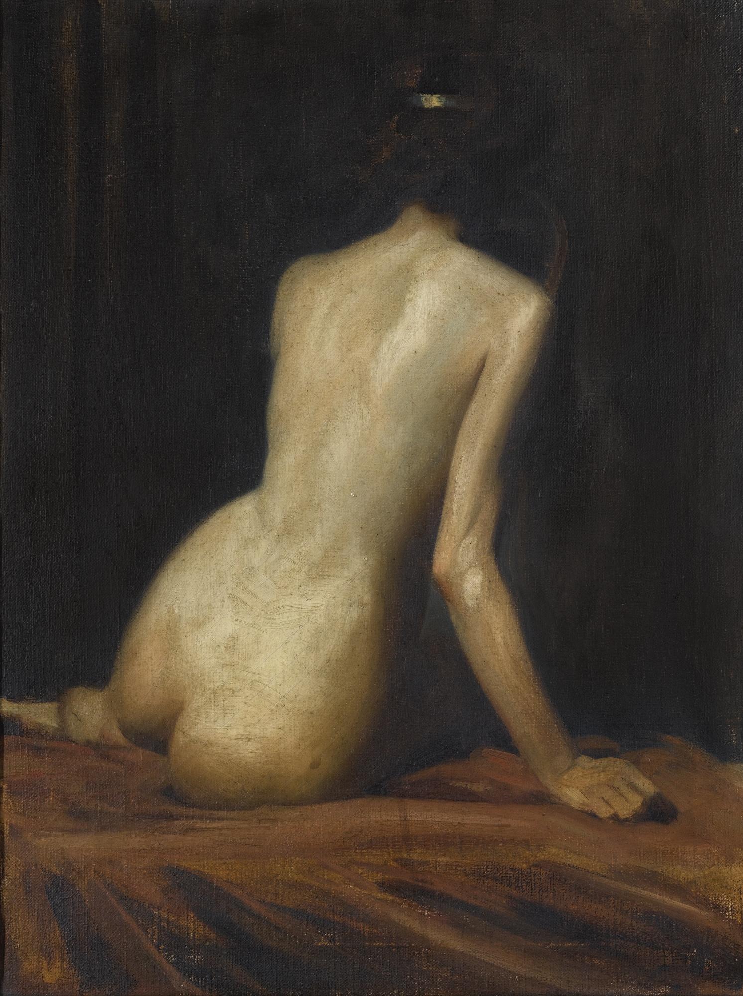 Albert Henry Collings, 1858-1947. Этюд обнаженной (Новенькая в гареме). 43 х 33 см. Частная коллекция