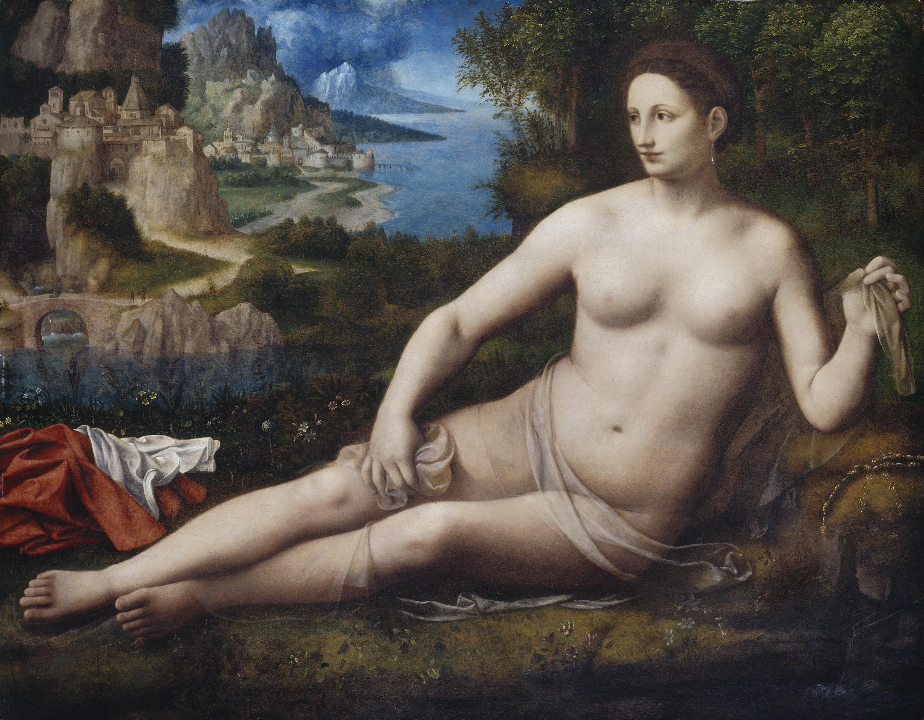 Bernardino Luini, 1480-1485 - 1532. Венера. ок.1530. 106.7 x 135.9. Вашингтон, Национальная галерея