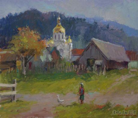 Біля церкви в с.Тухля