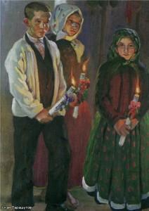 Дети со свечами 1913 г.