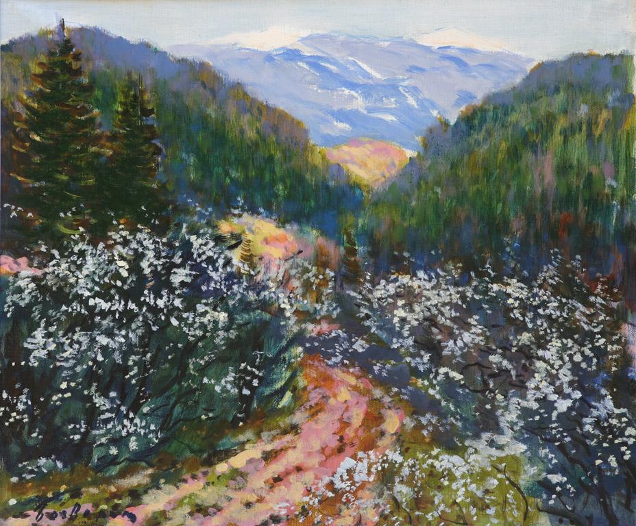 Гірський пейзаж з дорогою 1988