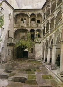 Итальянский дворик (Львовский исторический музей) 1948 г.