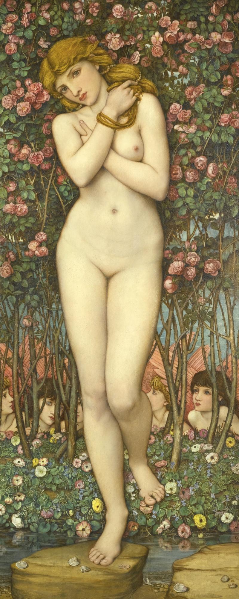 John Roddam Spencer-Stanhope, 1829-1908. Флора (Рождение Венеры). 128.5 х 52.5 см. Частная коллекция