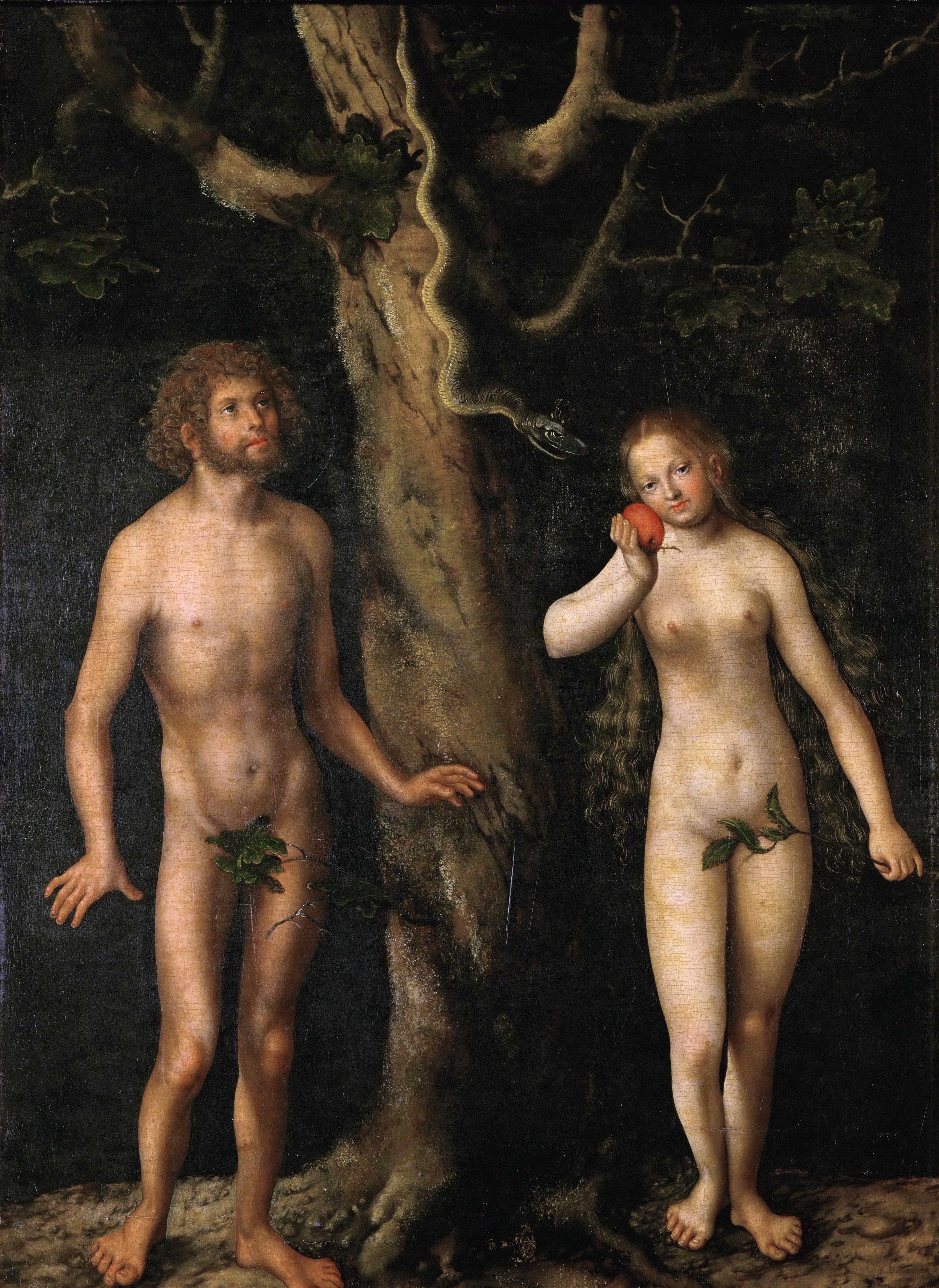 Lucas Cranach I, 1472-1553. Адам и Ева. ок.1515. Варшава, Национальный музей