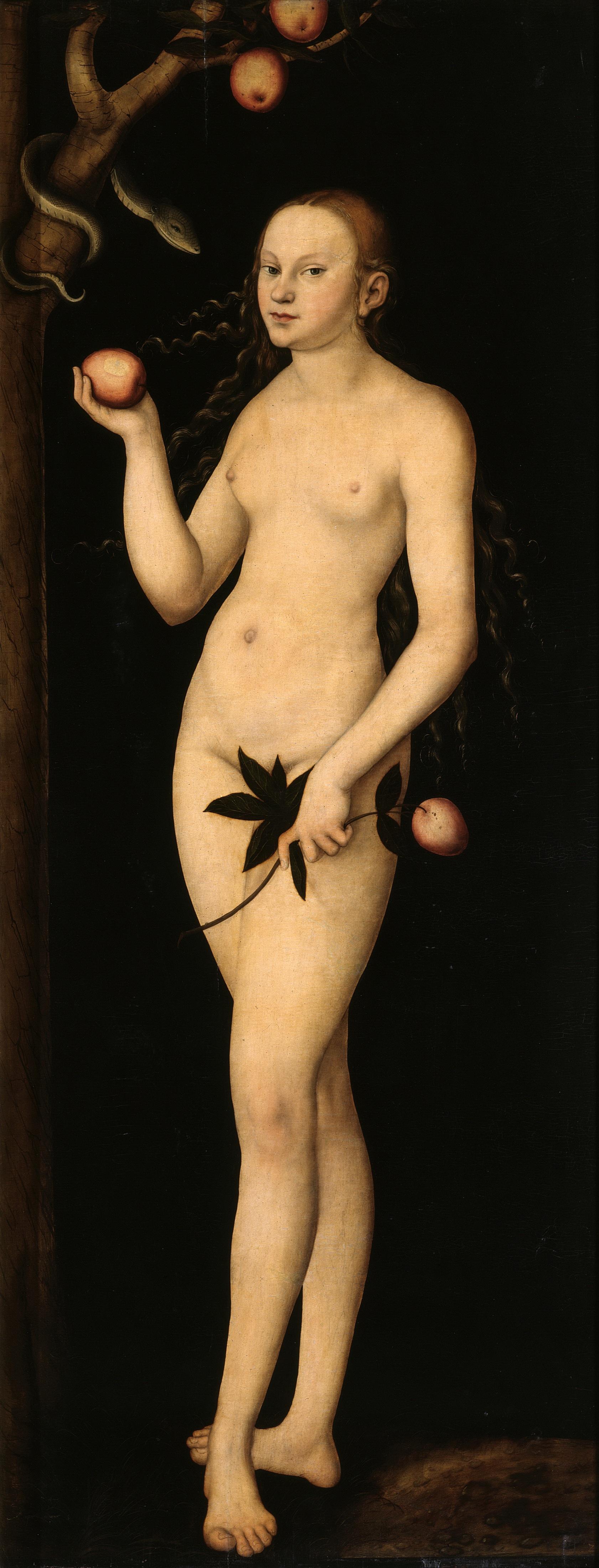 Lucas Cranach I, 1472-1553. Ева. 1531. Дрезден, Галерея старых мастеров