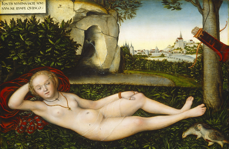 Lucas Cranach I, 1472-1553. Нимфа весны. Вашингтон, Национальная галерея