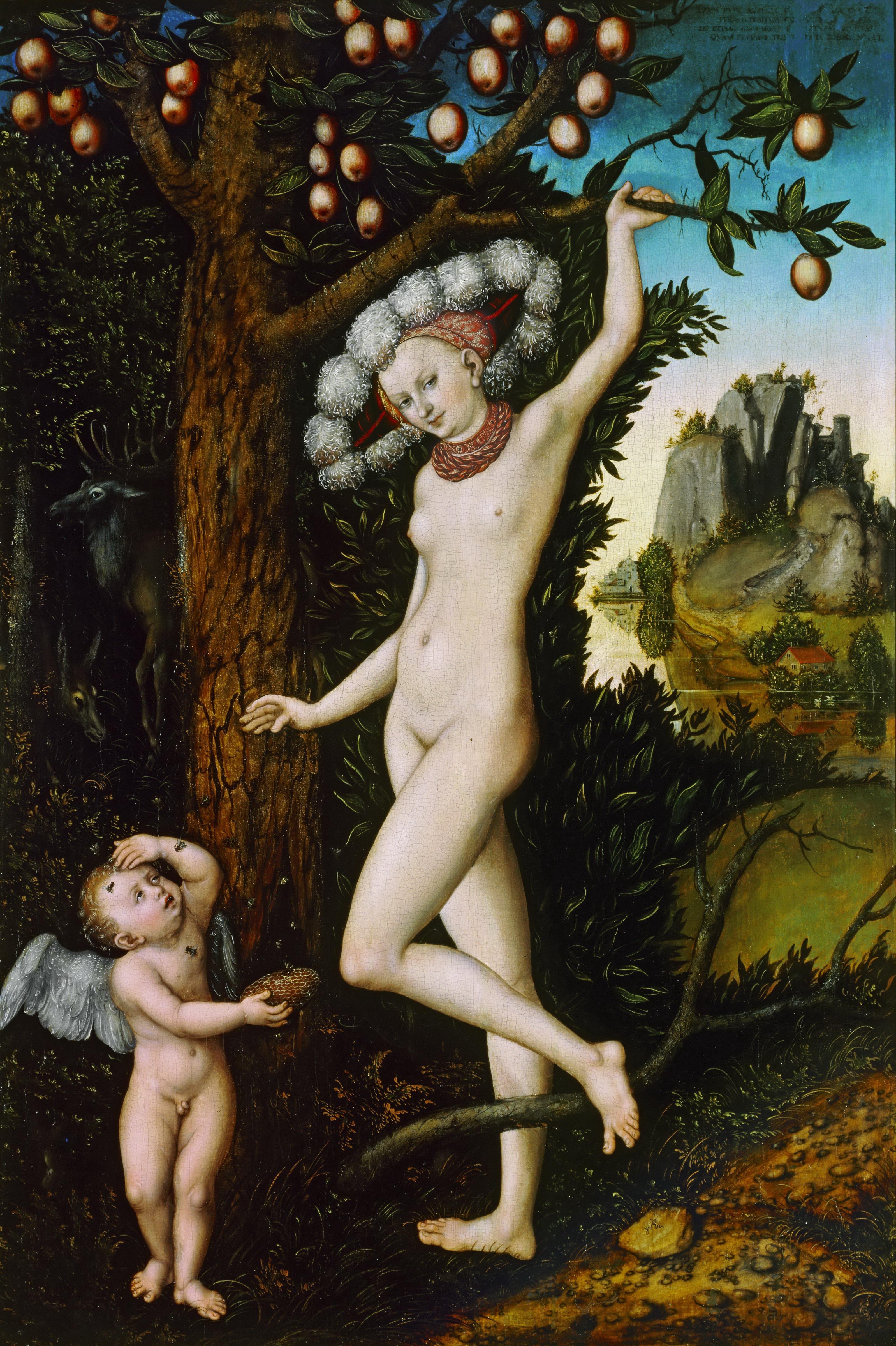 Lucas Cranach I, 1472-1553. Венера и Амур, укравший соты. 1530. Лондон, Национальная галерея