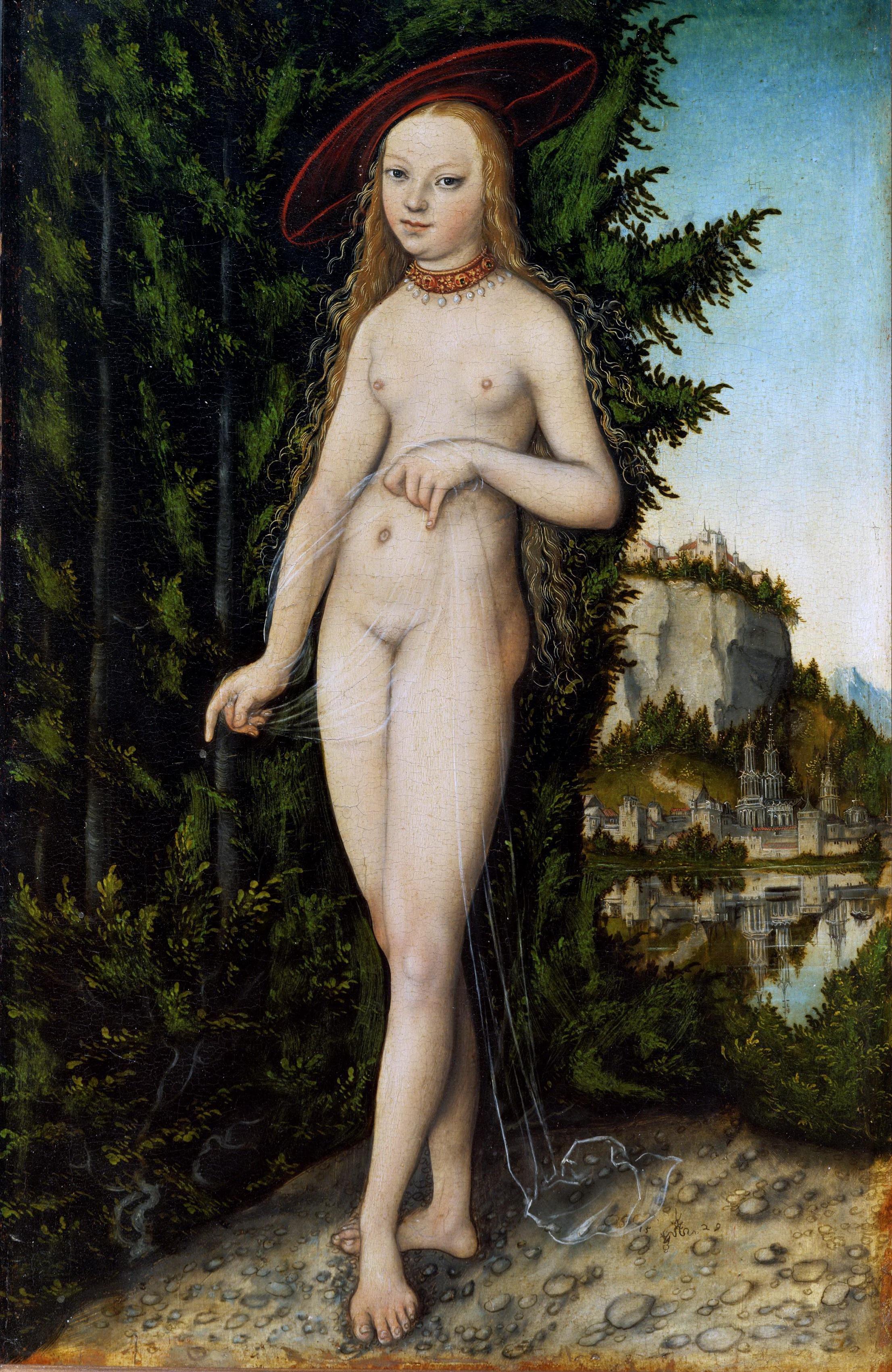Lucas Cranach I, 1472-1553. Венера в пейзаже. 1529. Париж, Лувр