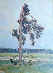 Одинокая сосна. 1919 г