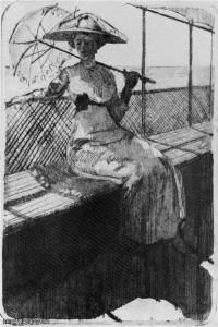 Оля на палубе 1911 г.
