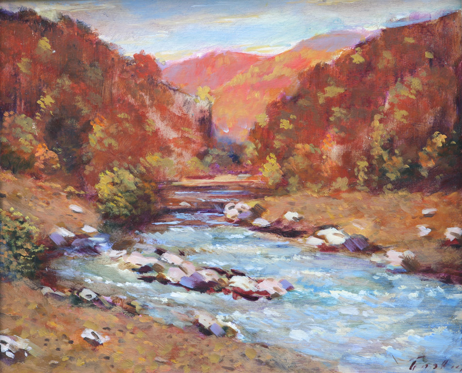 Осінній пейзаж з річкою 1978