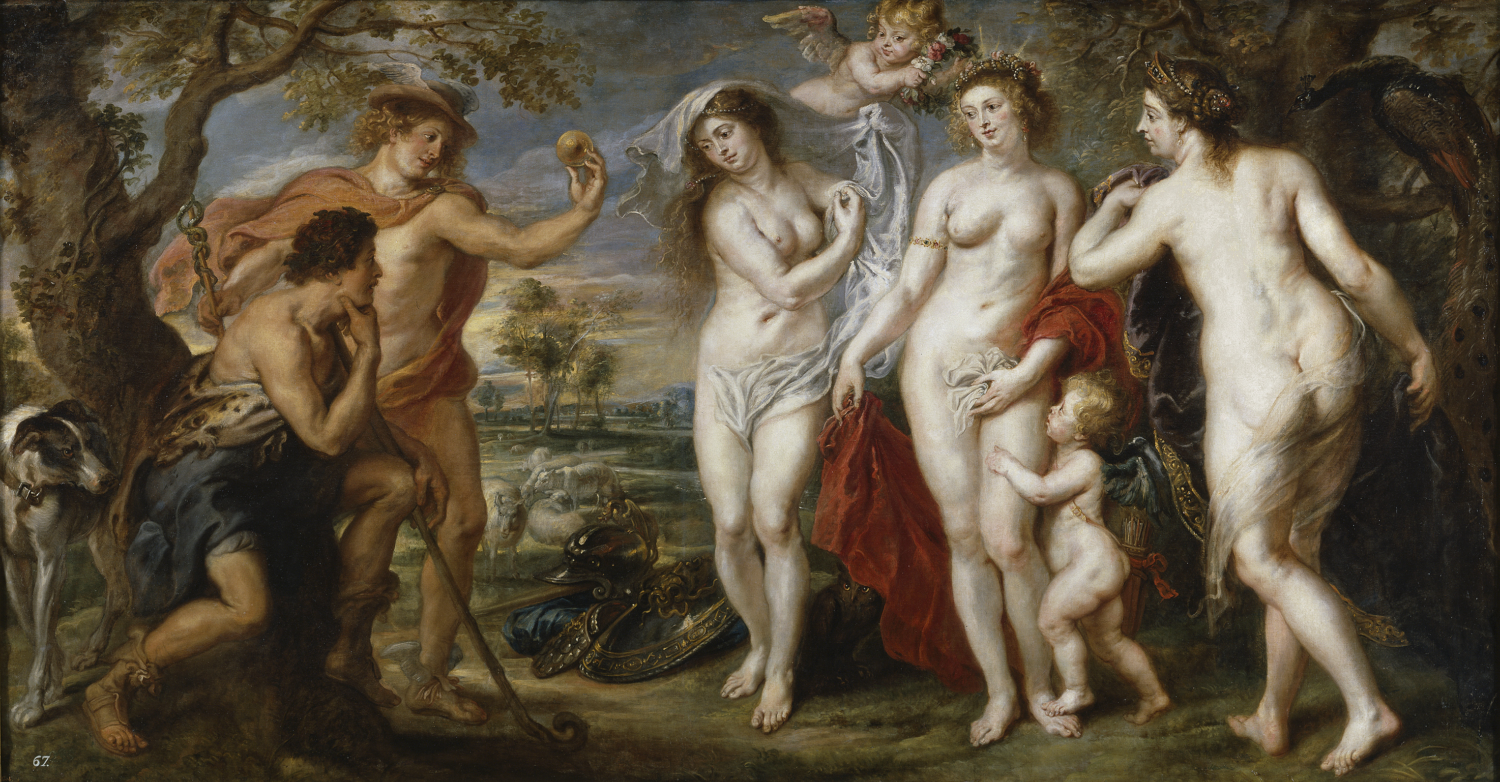 Peter Paul Rubens, 1577-1640. Суд Париса. 1638-1639. 199 х 381 см. Мадрид, Прадо
