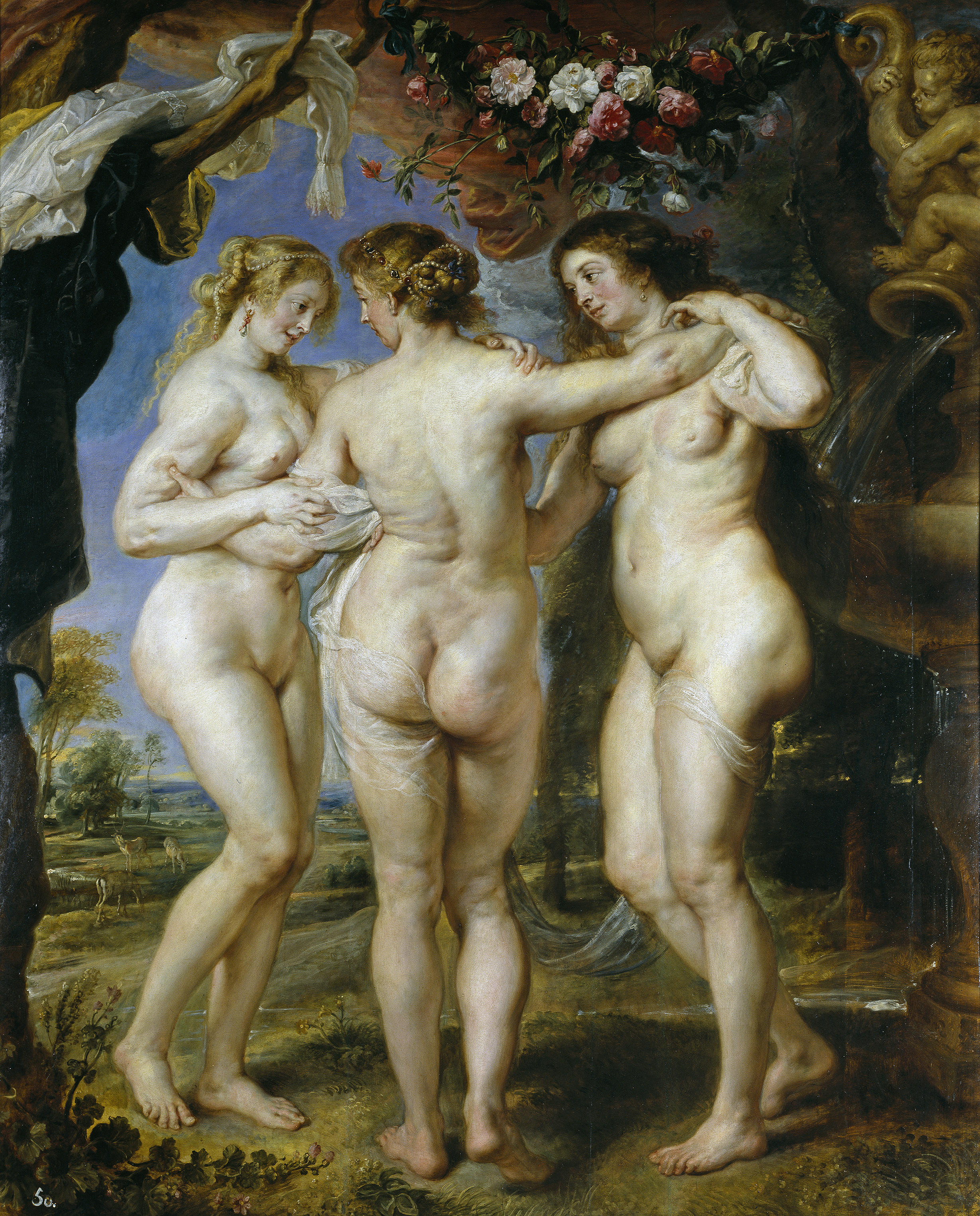 Peter Paul Rubens, 1577-1640. Три грации. ок.1635. 221 х 181 см. Мадрид, музей Прадо