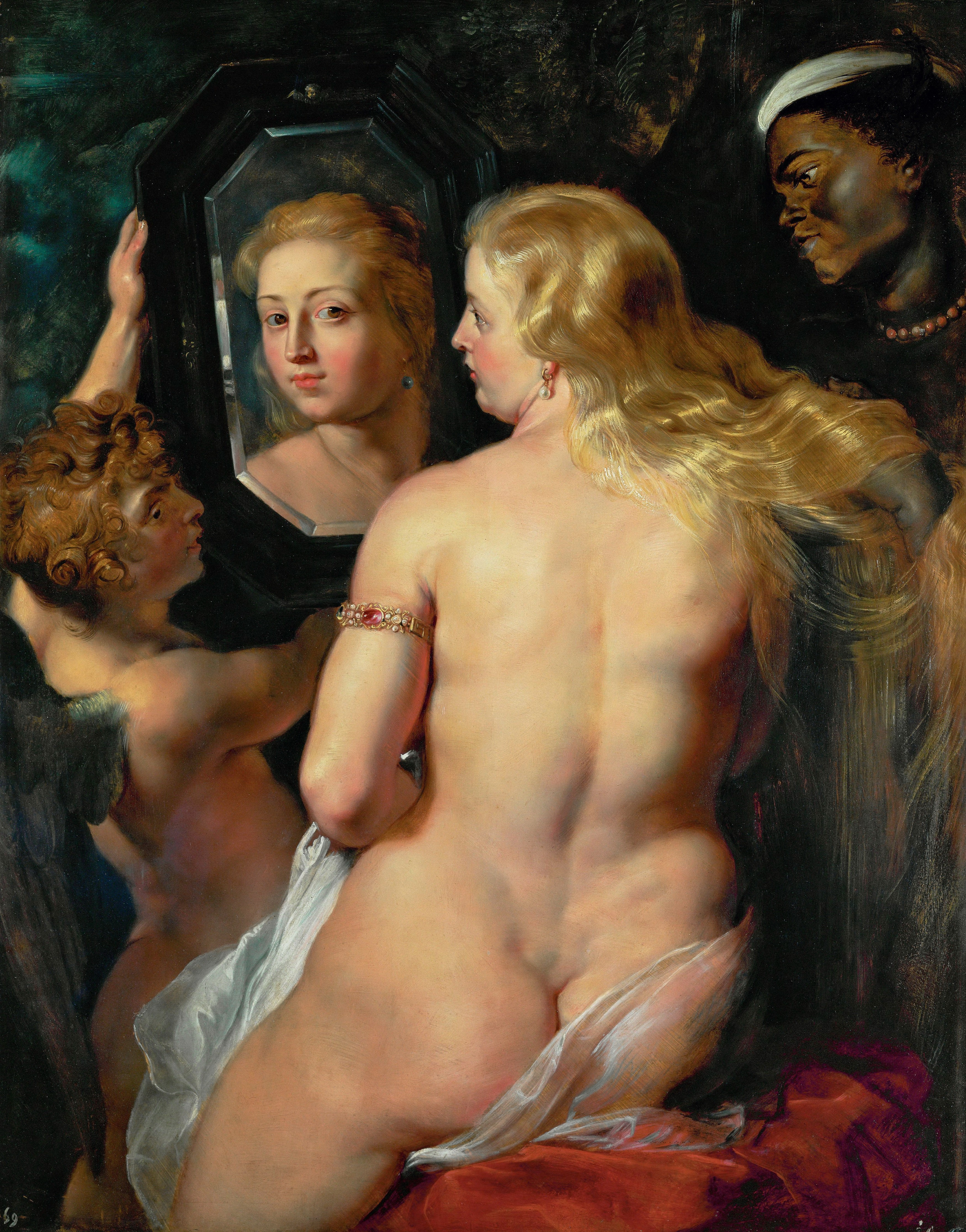 Peter Paul Rubens, 1577-1640. Венера перед зеркалом. 1615. 24 х 98 см. Вена, Музей Лихтенштейн