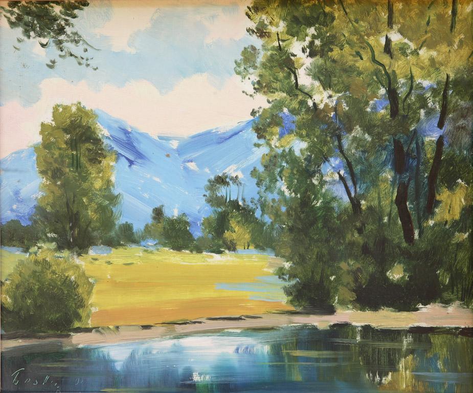 Пейзаж біля річки 1993