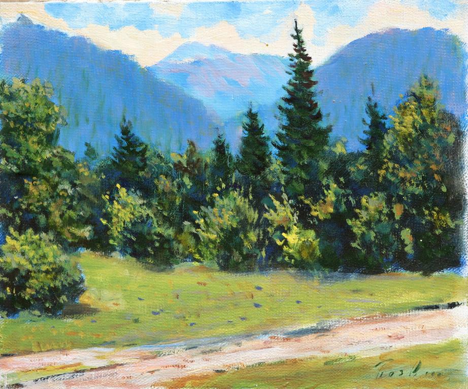Пейзаж біля села Невицьке 1964