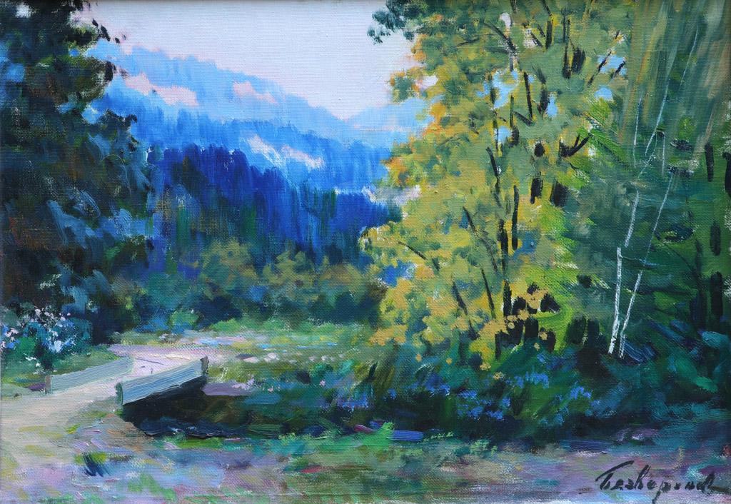 Пейзаж з містком 1987