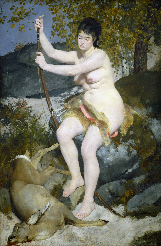 Piere-Auguste Renoir, 1841-1919. Диана-охотница. 199,5 х 129,5 см. Вашингтон, Национальная галерея