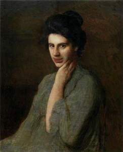Портрет А. М. Труш-Драгомановой, жены художника. 1906 г. Донецкий худ.музе