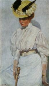 Портрет Ольги в белом. 1906 г.