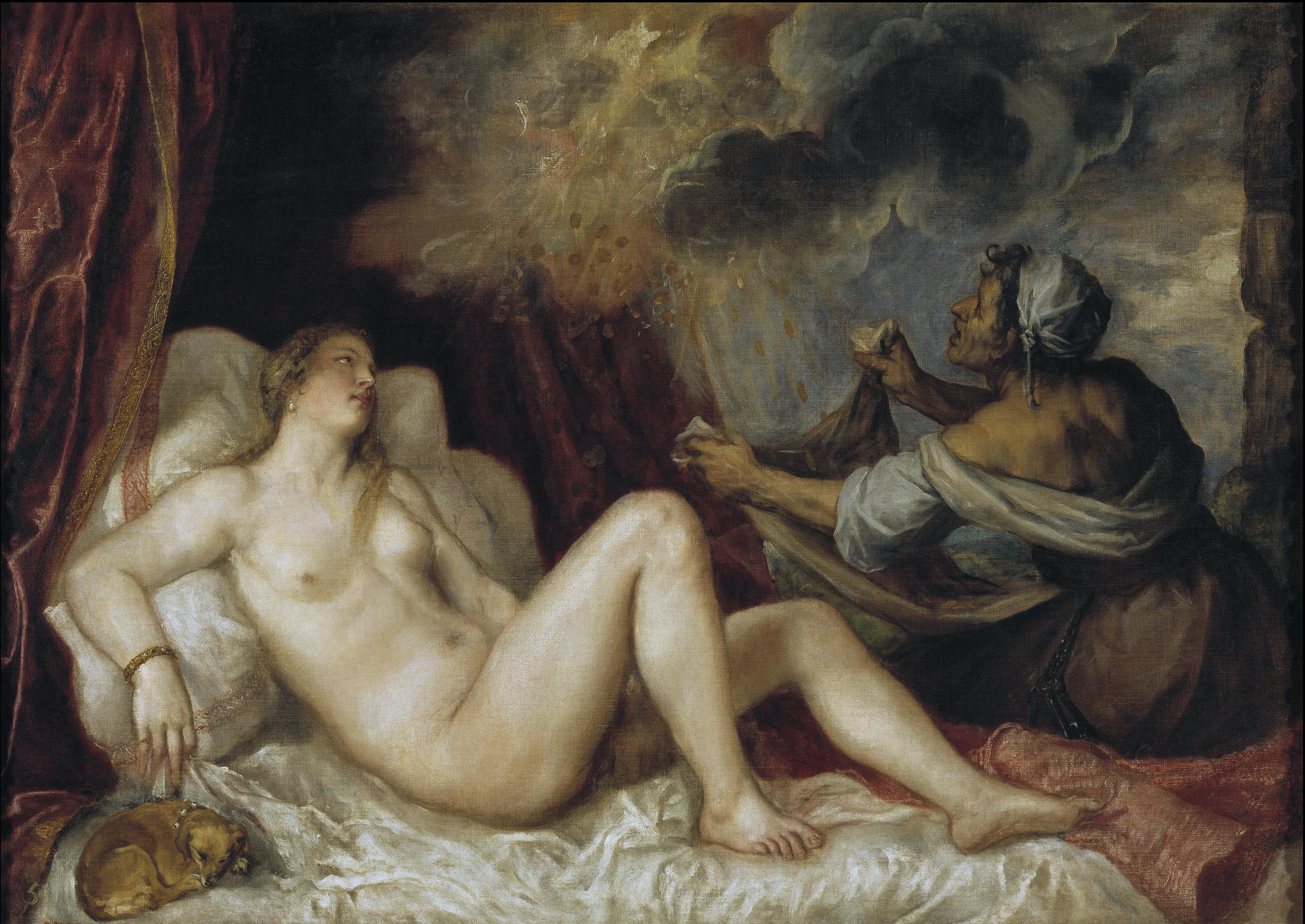 Titian Vecellio. 1488-1490 - 1576. Даная. 1553. 129,8 x 181,2 см. Мадрид, Прадо