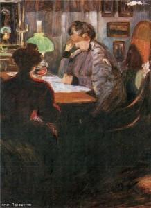 У керосиновой лампы 1910 г.