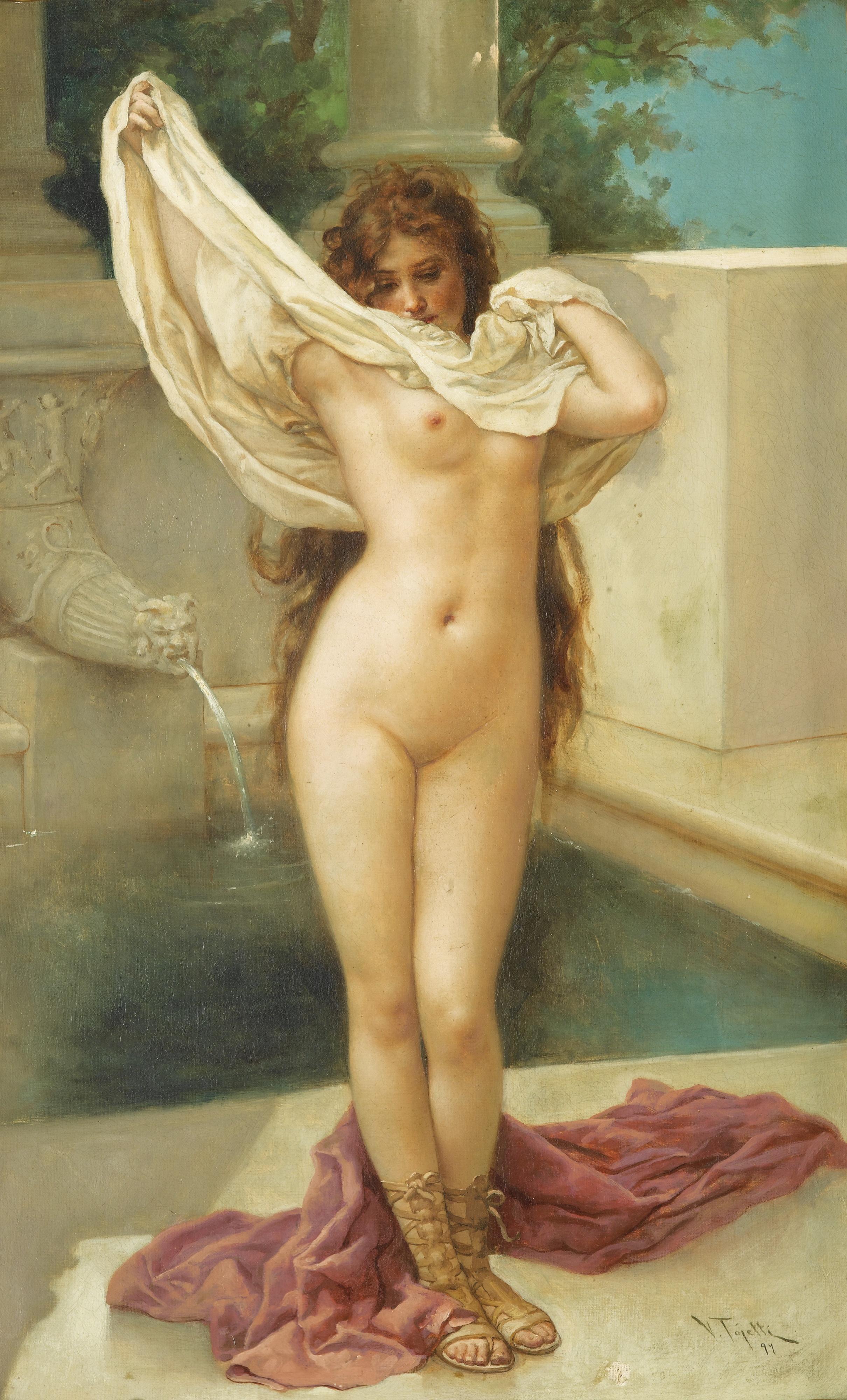Virgilio Tojetti, 1851-1901. Время купания. 867.5 х 41 см.
