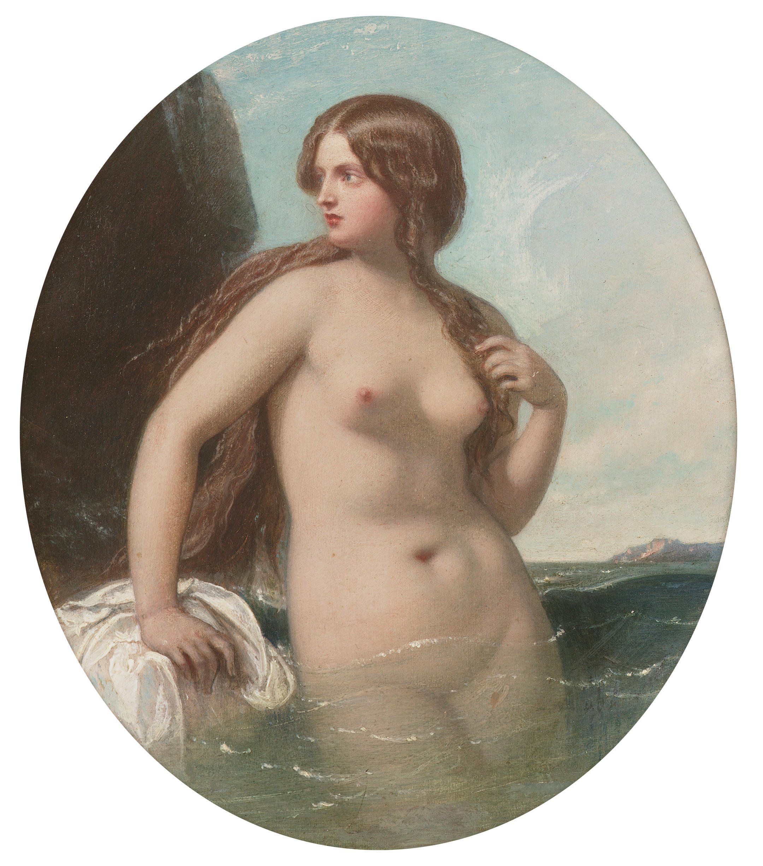 William Edward Frost, 1810-1877. Морская нимфа. 15.5 x 14 см. частная коллекция