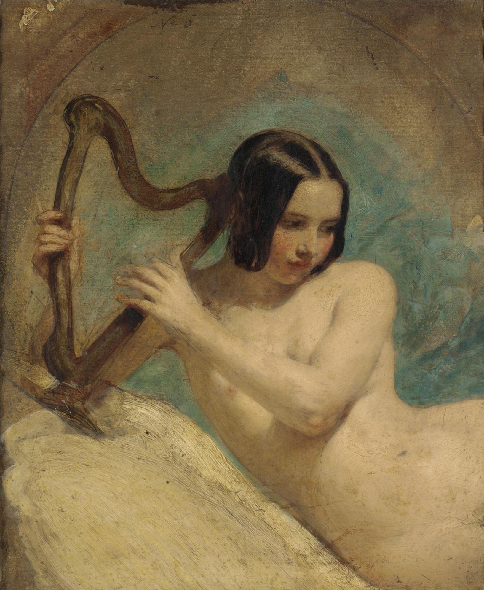 William Edward Frost, 1810-1877. Терпсихора.33 х 28 см. частная коллекция