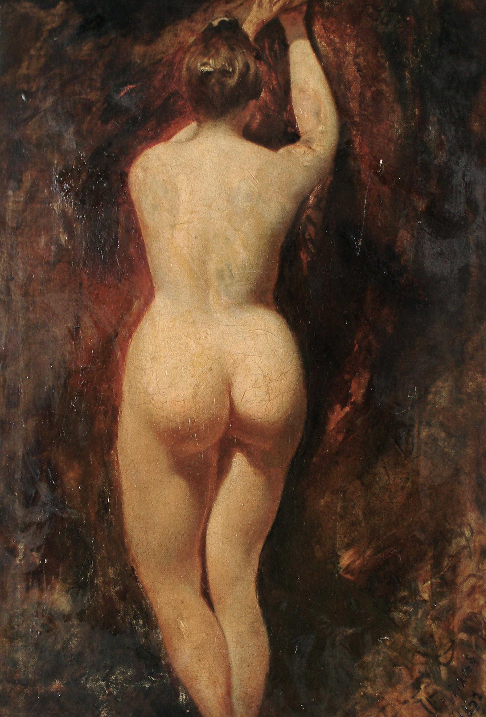 William Etty, 1787-1849. Этюд обнаженной. 50 x 36 см. частная коллекция