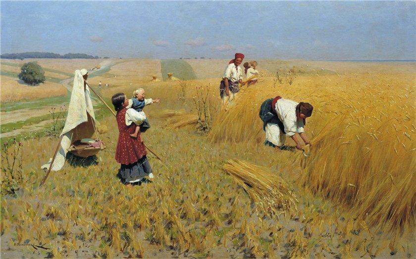 Жатва на Украине 1896 г.