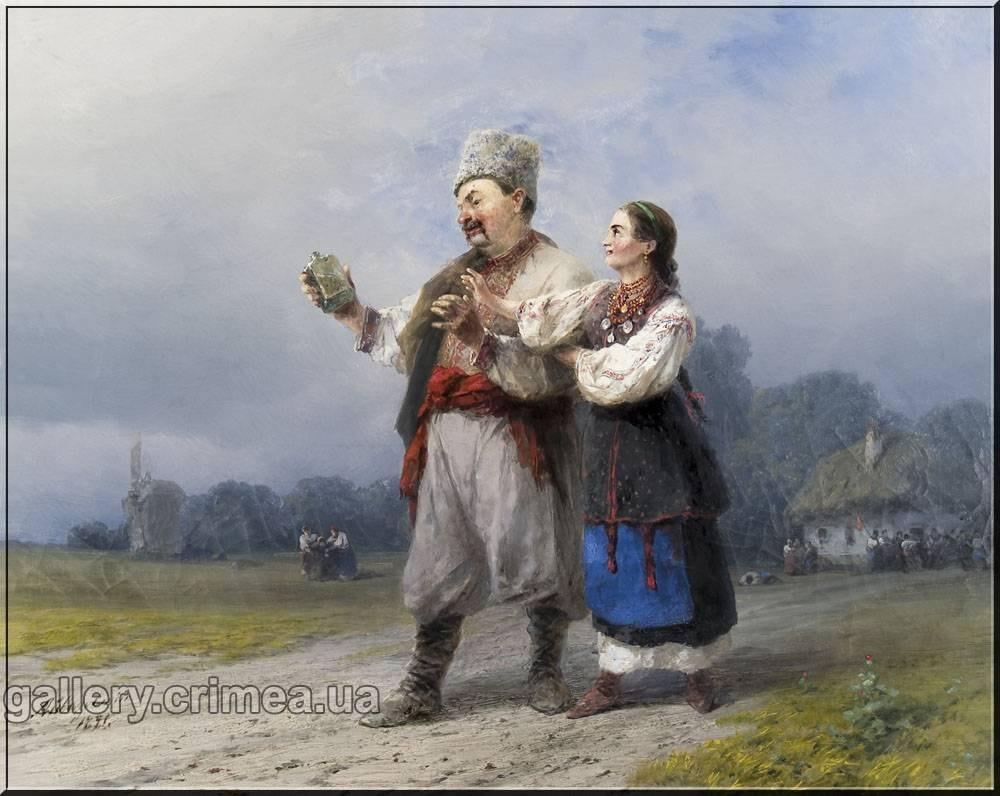Айвазовський Іван Костянтинович (1817-1900). Повернення з весілля 1891