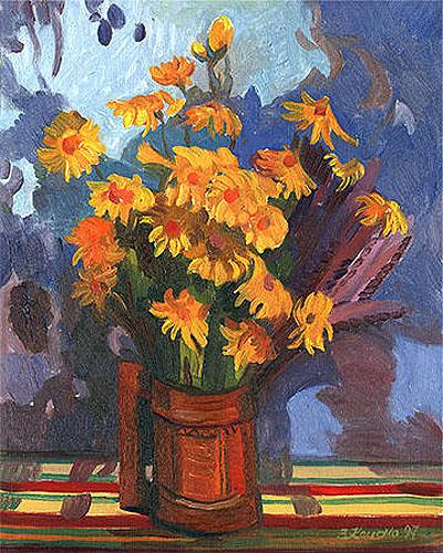 Горицвіт з арнікою.1997.Олія.60х50