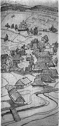 Либохора.1976.Офорт.27,5х12