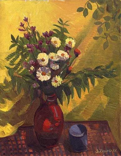 Польові квіти.1997.Олія.60х50