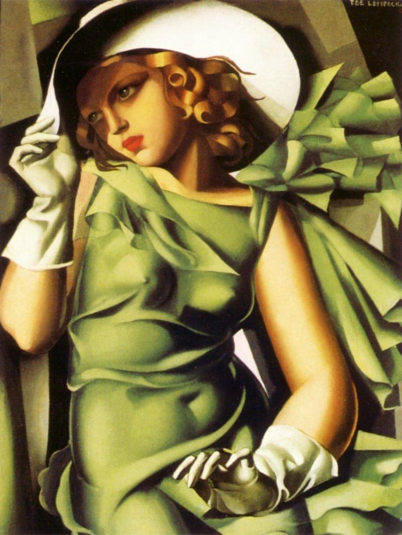 Девушка с перчатками, 1929