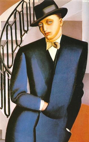 Маркиз д'Аффлито на лестнице, 1926