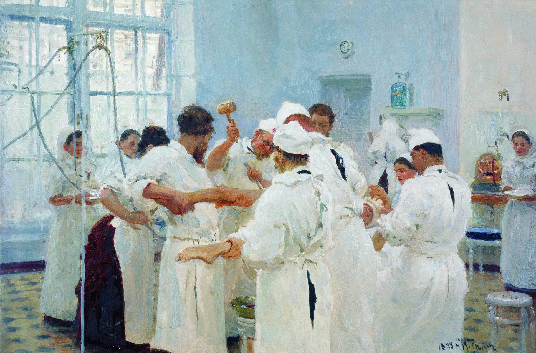 Павлов в операционном зале