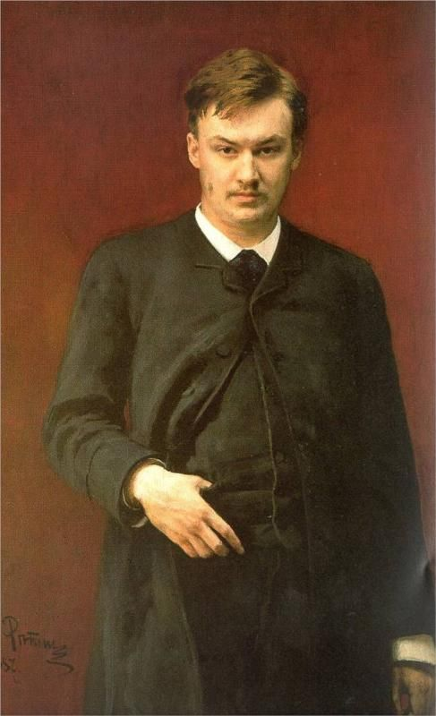 Портрет композитора А. Глазунова, 1887