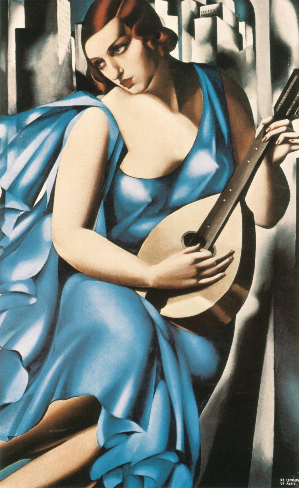 Синяя женщина с гитарой, 1929