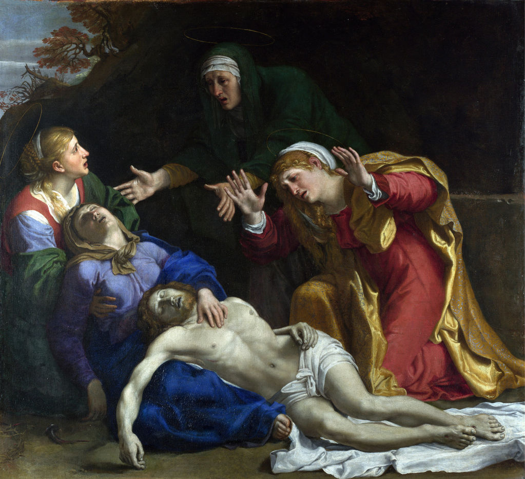Annibale Carracci (1560 –1609) - The Dead Christ Mourned (The Three Maries)