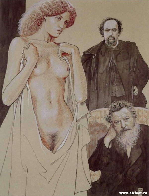 Dante Gabriel Rossetti & William Morris