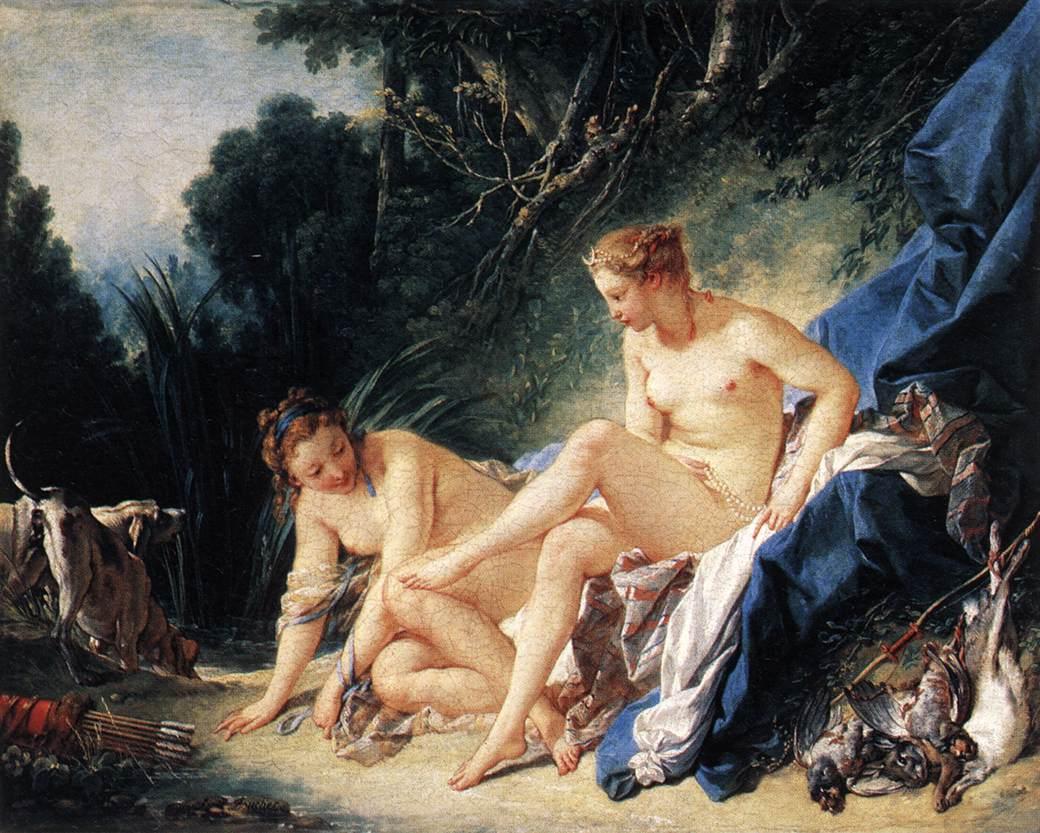 Диана, отдыхающая после купания, 1742