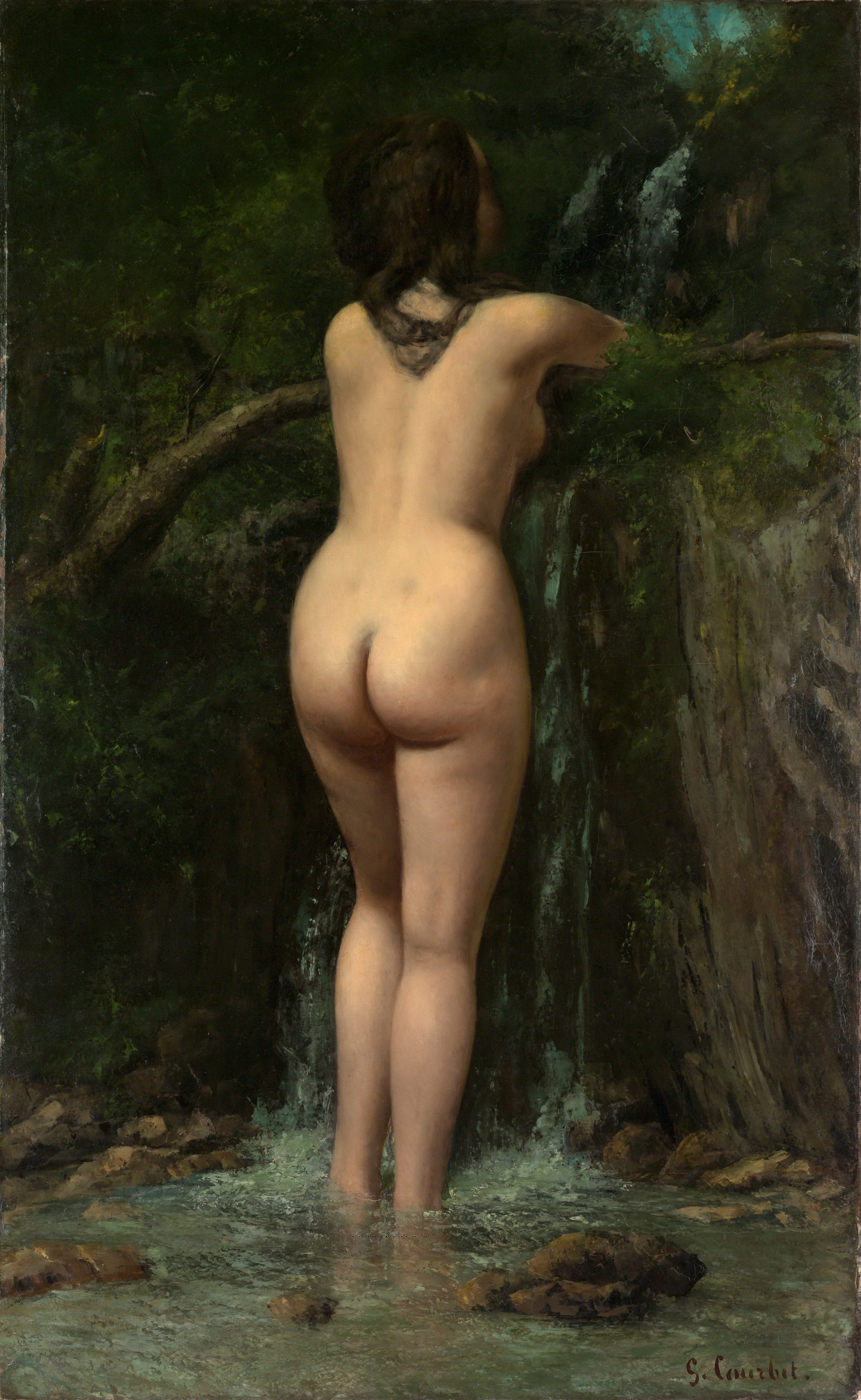 Gustave Courbet, 1819-1877. Источник. 1862. Нью-Йорк,  музей Метрополитен