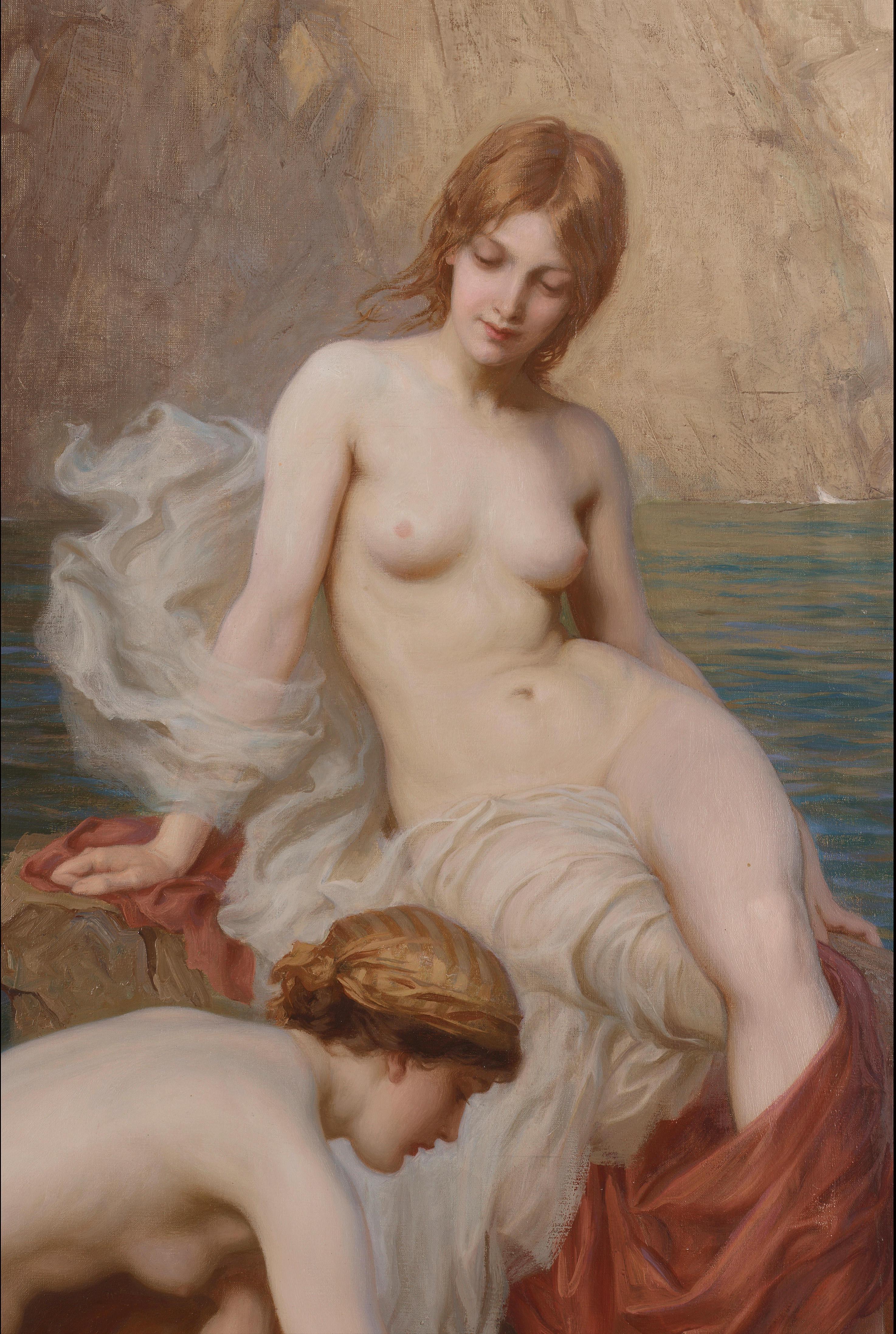 Herbert James Draper, 1864-1920. Летом на море. 127 x 76см. Частная коллекция-фрагмент