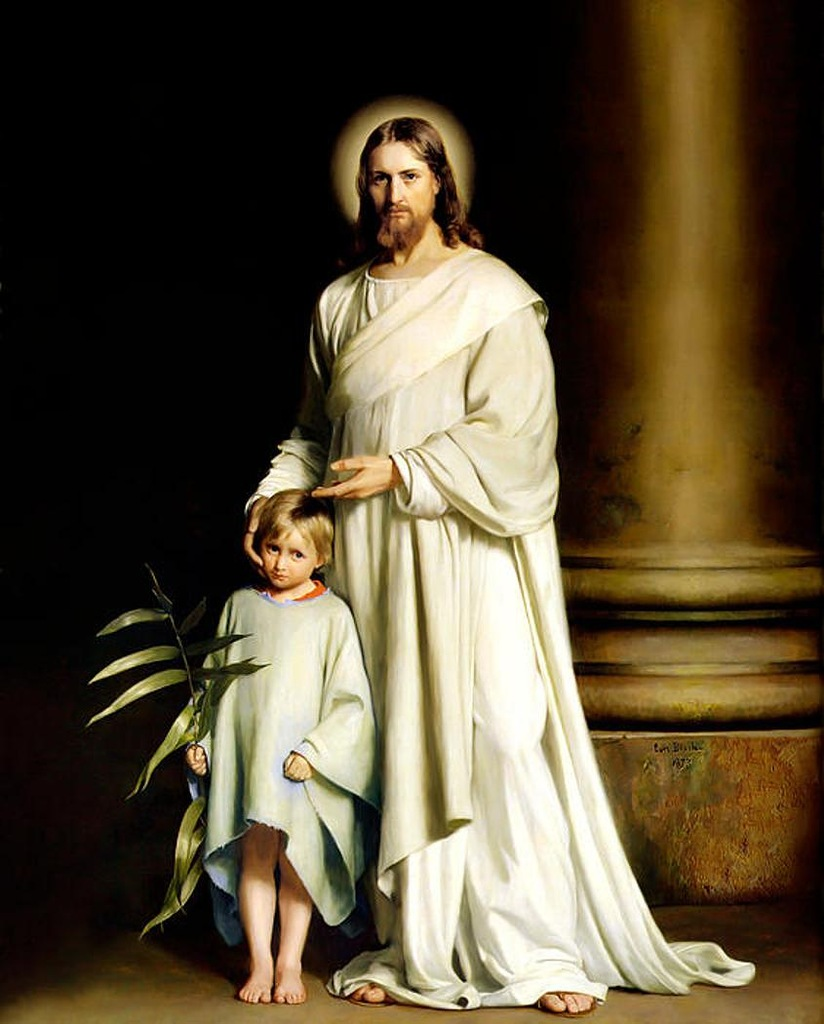 Христос и ребенок.