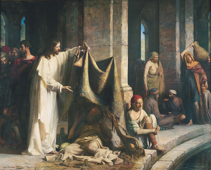 Исцеление в купальне Вифезда (1880).
