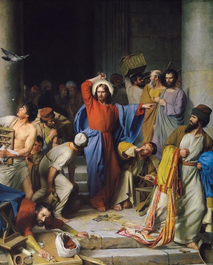 Изгнание торговцев из храма.