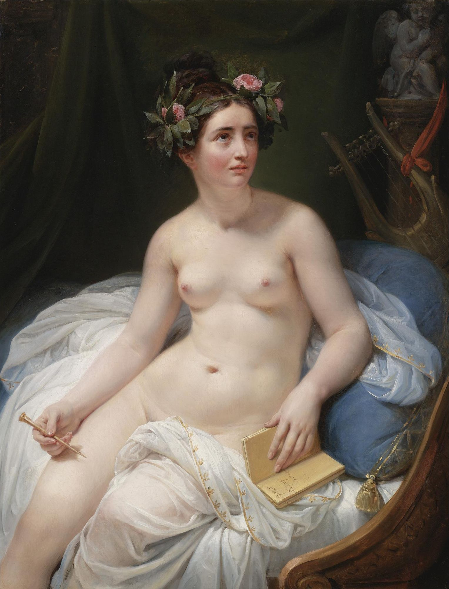 Jacques-Louis David, 1748-1825 (круг). Поэтесса Сапфо. 1819. 117.5 х 90.8 см. Частная коллекция