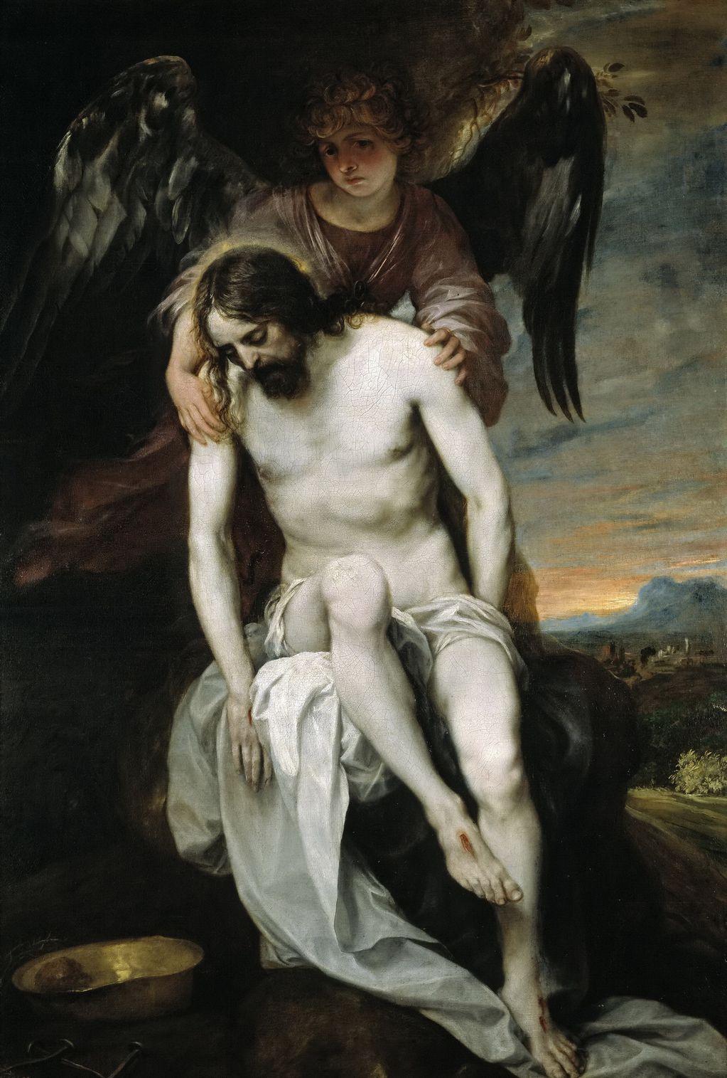 Кано Алонсо (1601-1667) Мертвый Христос, поддерживаемый ангелом